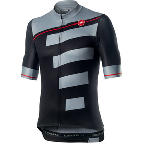Castelli Trofeo Maillot Manches courtes Homme, light black/vortex gray